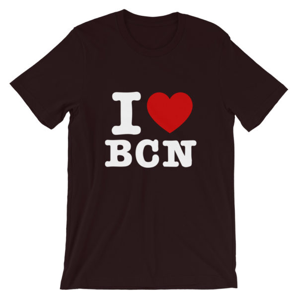T-shirt I LOVE BCN bordeaux
