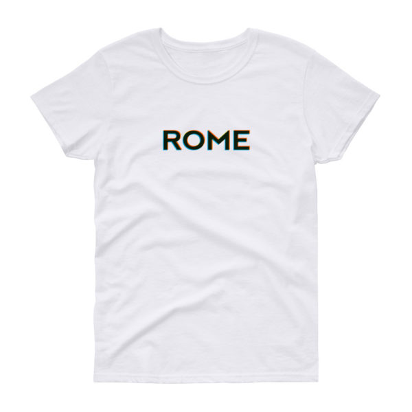 T-shirt ROME coupe femme, blanc