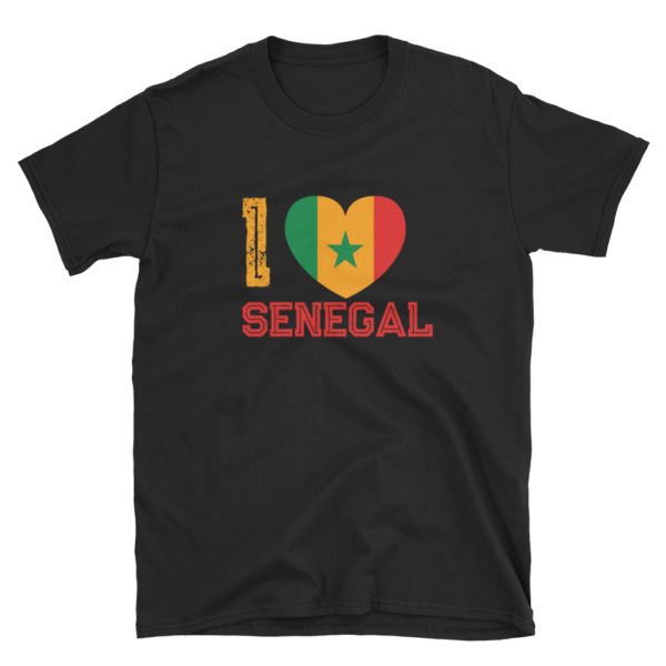 T-shirt I LOVE SENEGAL noir