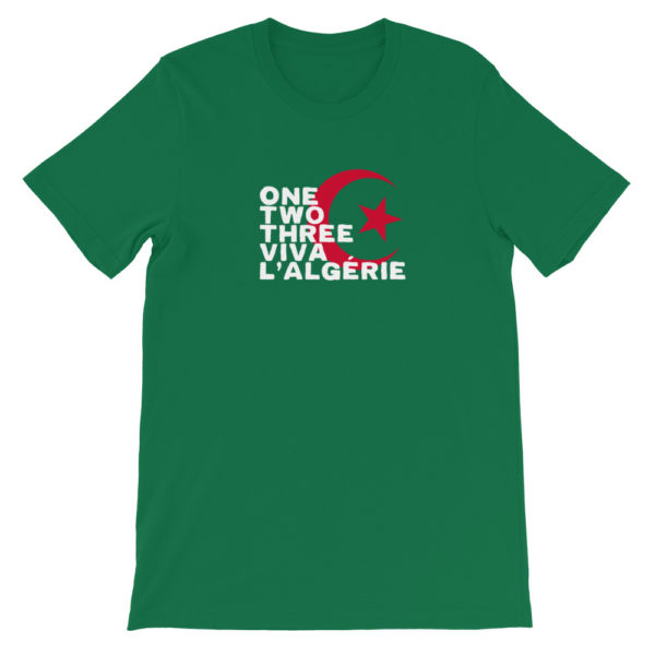 T-shirt vert ONE TWO THREE VIVA L'ALGÉRIE-1.jpg