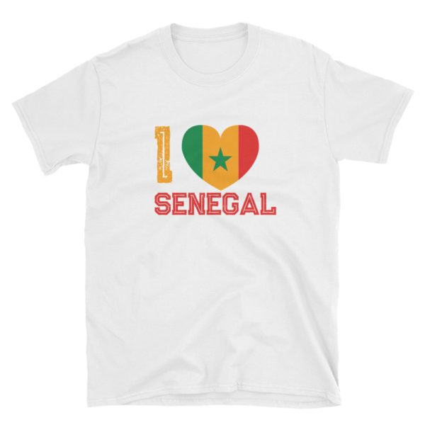 T-shirt I LOVE SENEGAL blanc