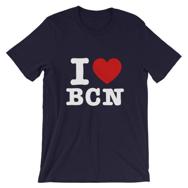 T-shirt I LOVE BCN bleu marine