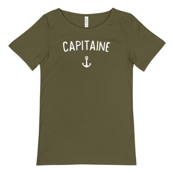 T-shirt CAPITAINE vert olive