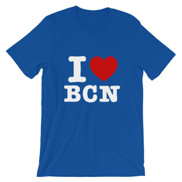 T-shirt I LOVE BCN bleu