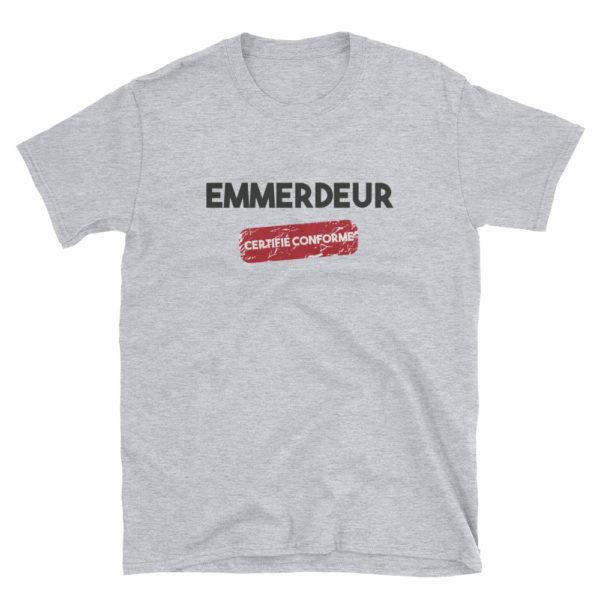 T-shirt gris Emmerdeur certifié