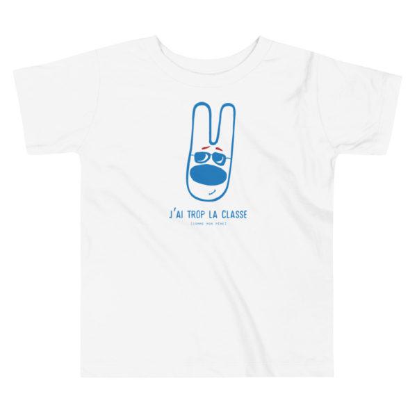 """T-shirt garçon """"J'ai trop la classe"""" [comme mon père]"""