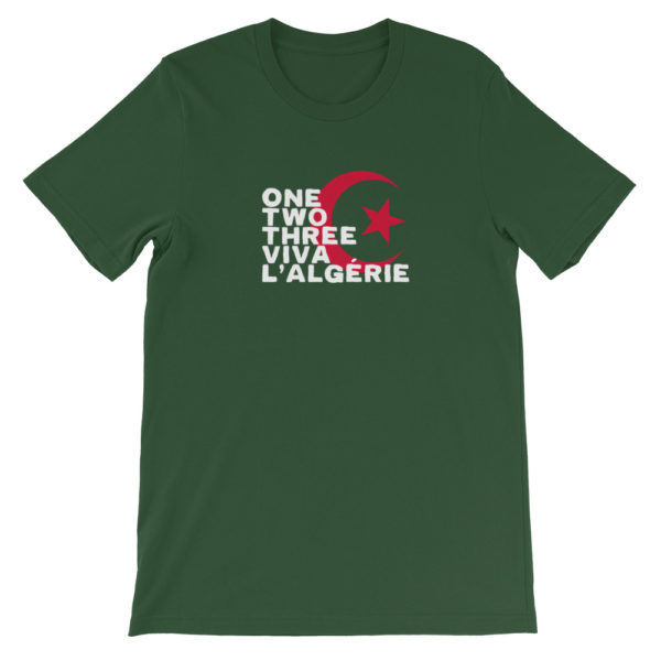 T-shirt vert foncé ONE TWO THREE VIVA L'ALGÉRIE-1.jpg