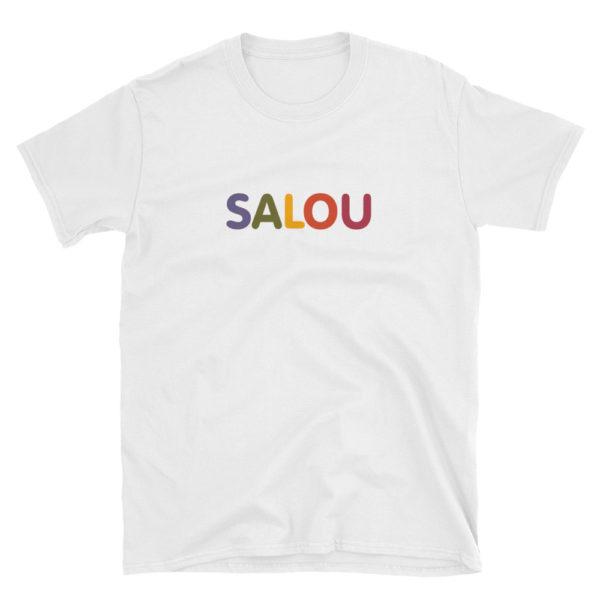 T-shirt SALOU multicolore - Tee shirt blanc Homme / Femme