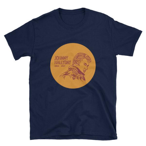 "Tee shirt bleu marine ""Johnny Hallyday"""