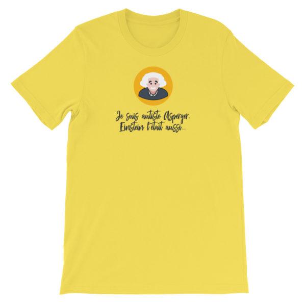 T-shirt Asperger jaune canari