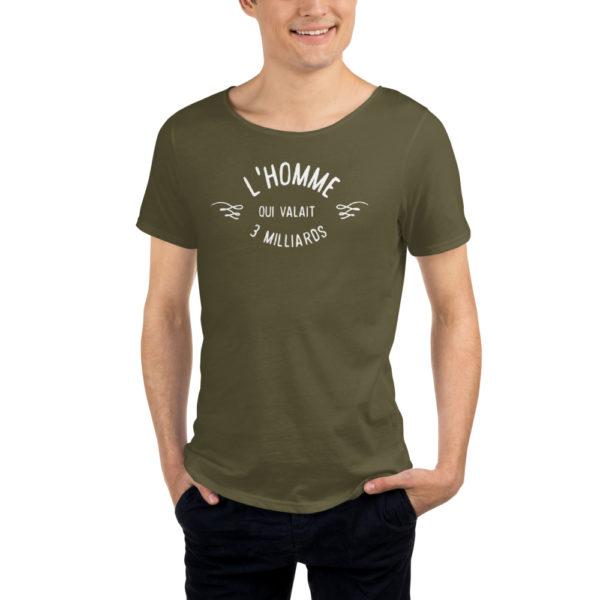T-shirt vert olive L'homme qui valait 3 milliards