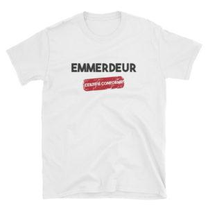 T-shirt blanc Emmerdeur certifié