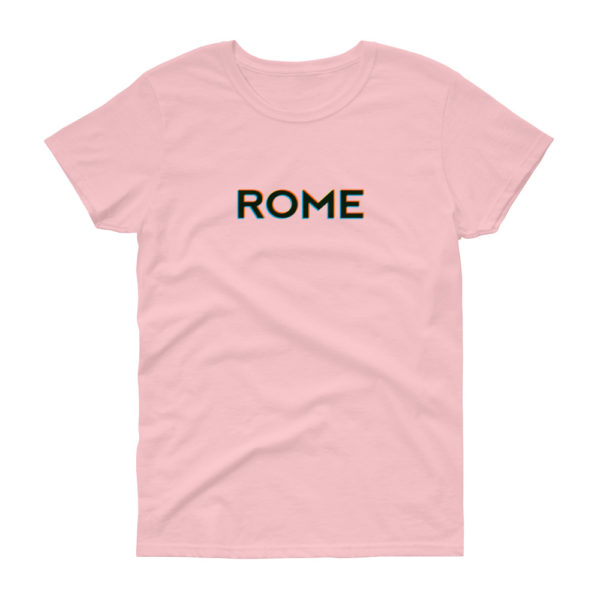 T-shirt ROME coupe femme, rose