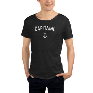 T-shirt CAPITAINE noir