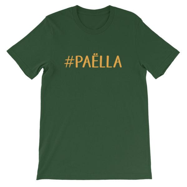 T-shirt vert hashtag PAËLLA - Tee shirt Homme / Femme