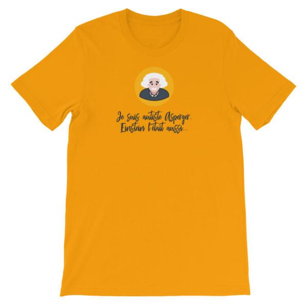 T-shirt Asperger jaune moutarde