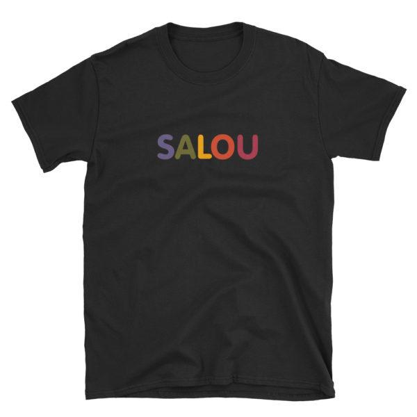 T-shirt SALOU multicolore - Tee shirt noir Homme / Femme