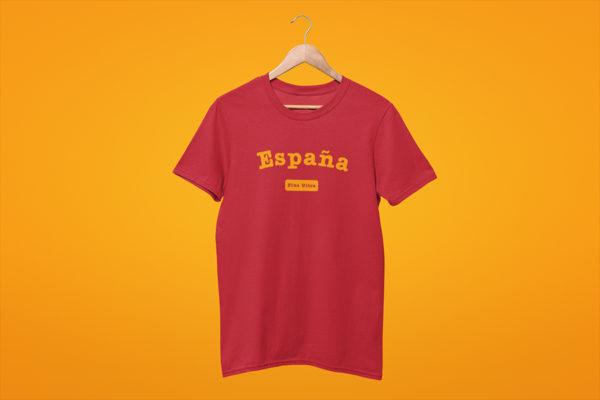 T-shirt rouge ESPAÑA devise Plus Ultra