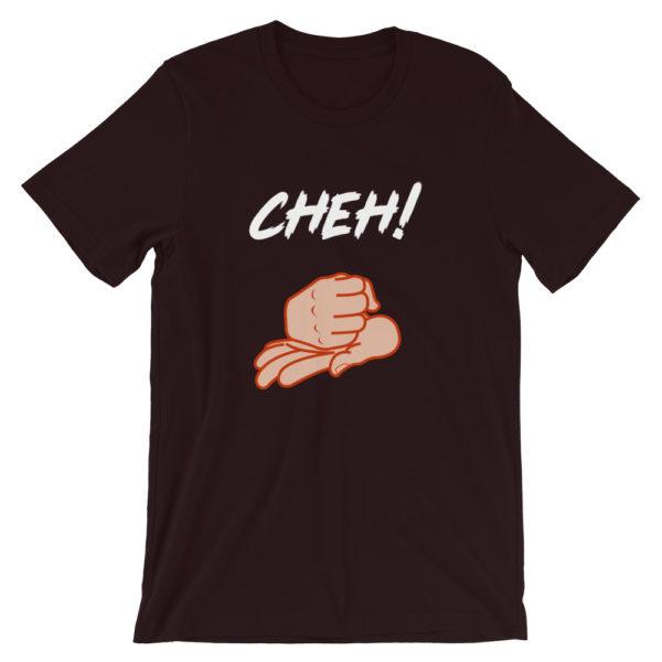 T-shirt Cheh ! homme / femme couleur bordeaux