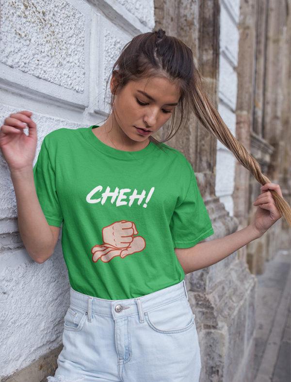 T-shirt Cheh femme couleur vert