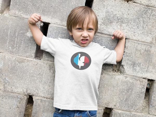 Tee-shirt enfant coq de France bleu blanc rouge