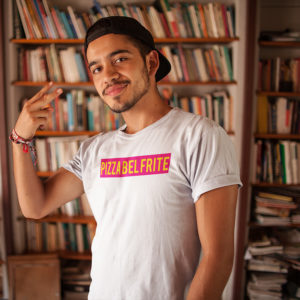 T-shirt PIZZA BEL FRITE - Tee-shirt homme / femme