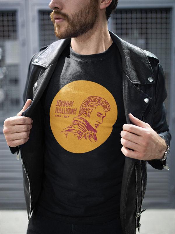 "T-shirt vintage ""Johnny Hallyday"""