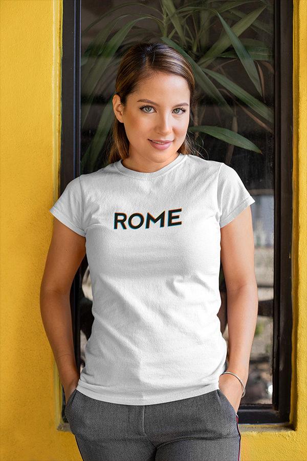 T-shirt femme ROME, couleur blanc