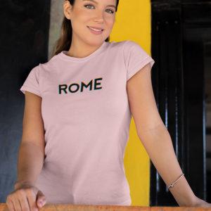 T-shirt femme ROME, couleur rose