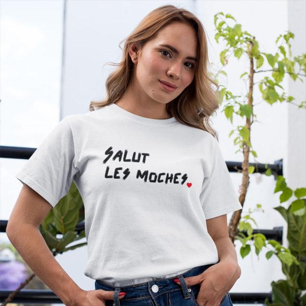 T-shirt Salut les moches pour femme