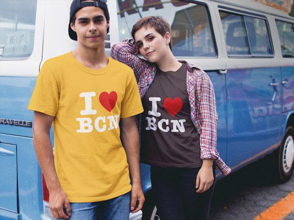 T-shirt I LOVE BCN (I love Barcelone) homme / femme