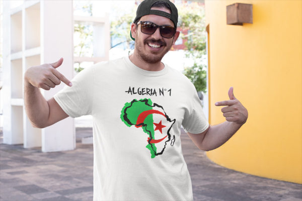 T-shirt homme ALGERIA N°1 - Tee shirt foot CAN