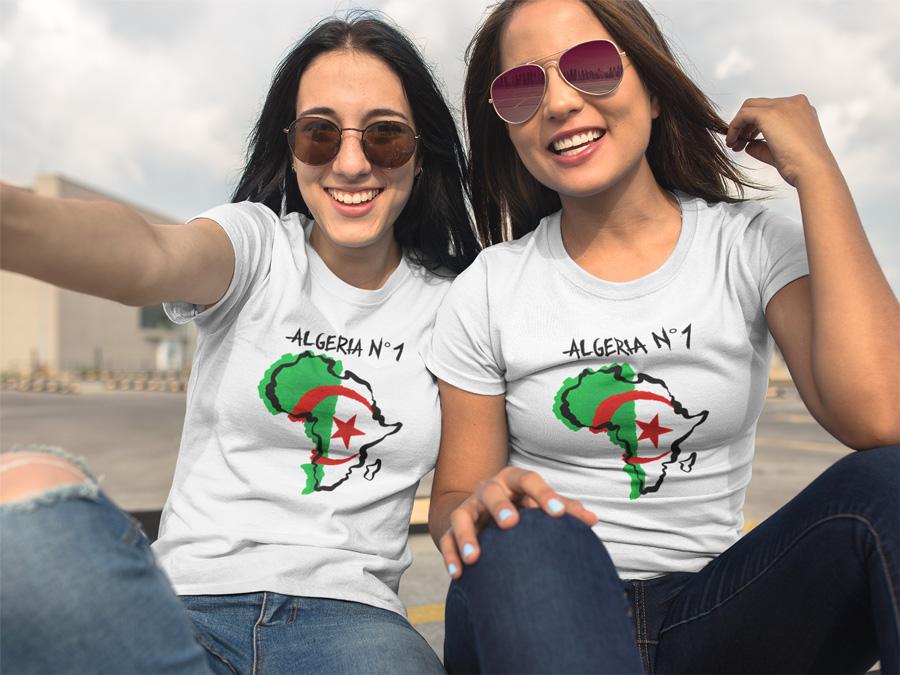 T Shirt Algeria N 1 Tee Shirt Foot Can