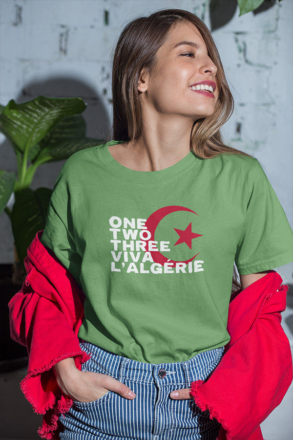 T-shirt ONE TWO THREE VIVA L'ALGÉRIE