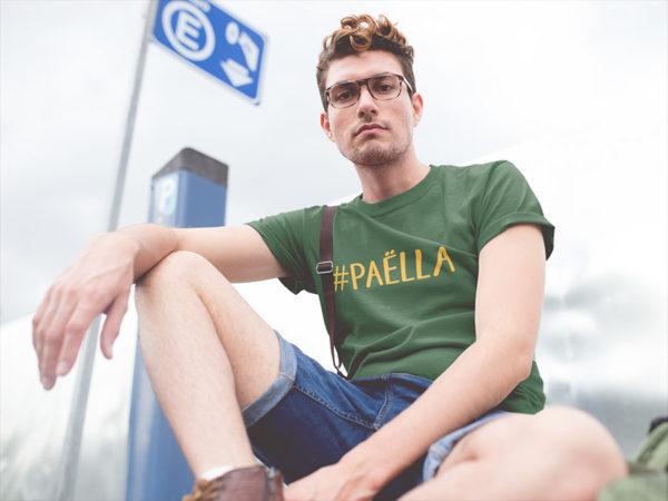 T-shirt vert hashtag PAËLLA