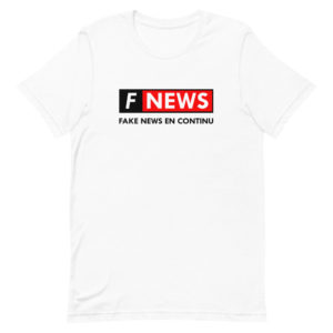 T-shirt Fake News, détournement humour