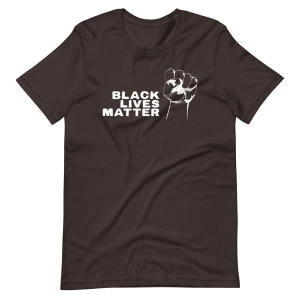 T-shirt Black Lives Matter - Tee Shirt Marron Homme / Femme