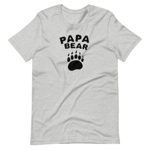 T-shirt gris PAPA BEAR pour homme