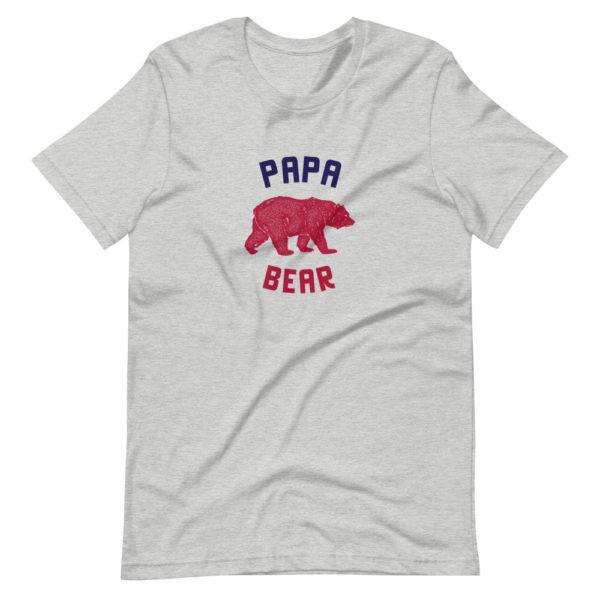 Papa Bear - T-shirt design gris pour homme