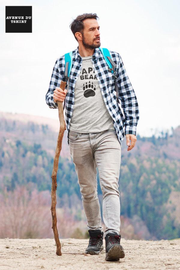 T-shirt PAPA BEAR cadeau d'anniversaire pour homme
